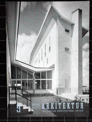 ARKITEKTUR 1959/9 SÖDERMALM, ITALIENSKA INSTITUTET, SLAGSTAD, Inredning