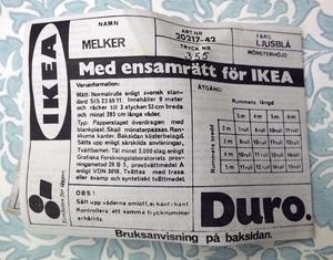 IKEA tapet Melker nr A6135